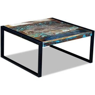 "vidaXL Coffee Table Solid Reclaimed Wood 31.5""x31.5""x15.7"""