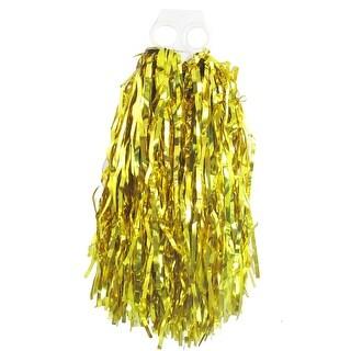 Unique Bargains Gold Tone Plastic Cheer Dance Spirit Cheerleading Pom Poms Cheer Pompons