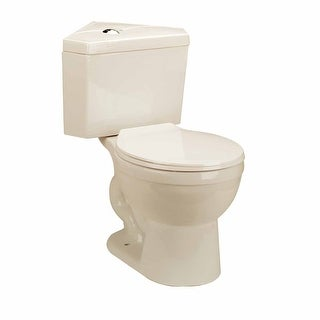 Bone China Round Space Saving Dual Flush Corner Toilet Renovator's Supply