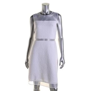 Calvin Klein Womens Juniors Mesh Inset Sleeveless Party Dress - 10