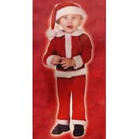 Little Santa Claus Toddler Costume - Size Small (24 months - 2T) - RED