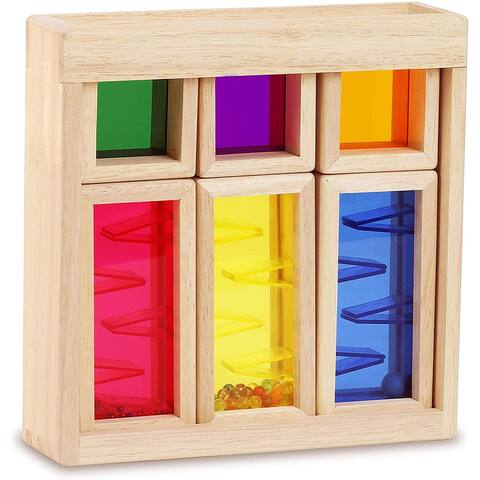 Top Right Toys Color Mixing and Stacking Building Blocks Colors, Shapes and Sounds
