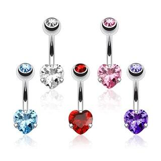 Heart CZ Prong Set Navel Belly Button Ring 316L Surgical Steel|https://ak1.ostkcdn.com/images/products/is/images/direct/f8eb212eb2a16eff38b126f47095977dd51a1468/Heart-CZ-Prong-Set-Navel-Belly-Button-Ring-316L-Surgical-Steel.jpg?impolicy=medium