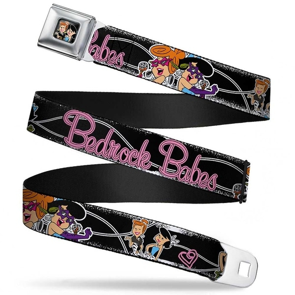 Wilma & Betty Full Color Black Wilma & Betty Glam Poses Bedrock Babes Black Seatbelt Belt