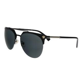 Versace VE2181 100987 Black Aviator Sunglasses - no size