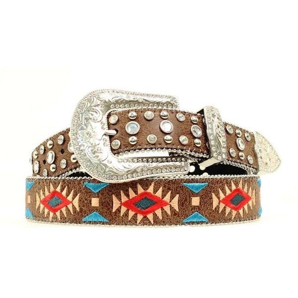 Blazin Roxx Western Belt Womens Southwest Diamond Brown