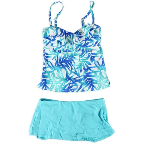 Island Escape Womens Tahiti Skirtini 2 Piece Bandini