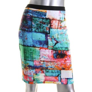 Karen Kane Womens Matte Jersey Printed Pencil Skirt