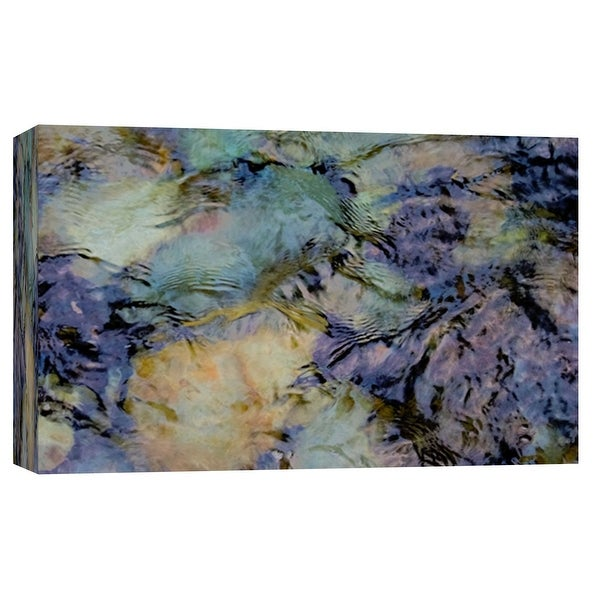 """PTM Images 9-103754 PTM Canvas Collection 8"""" x 10"""" - """"Water Rocks Two"""" Giclee Abstract Art Print on Canvas"""