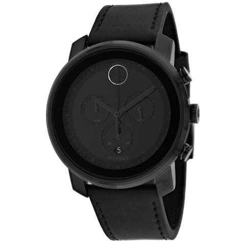 Movado Men's Black Dial Watch - 3600604 - One Size
