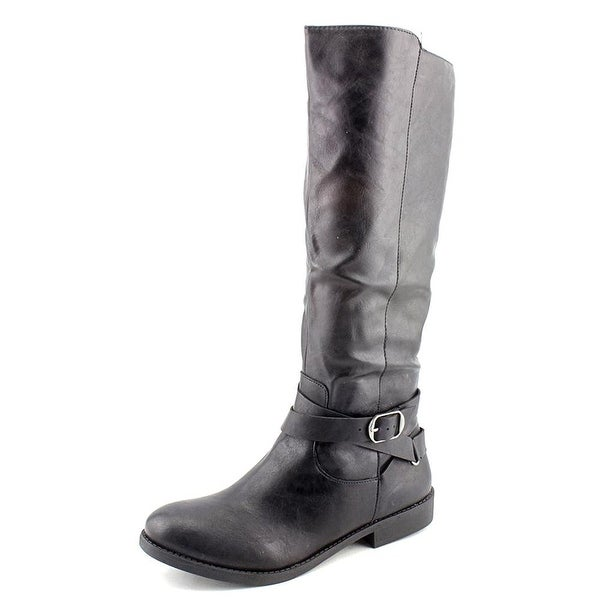 Style & Co. Womens Madixe Round Toe Mid-Calf Riding Boots