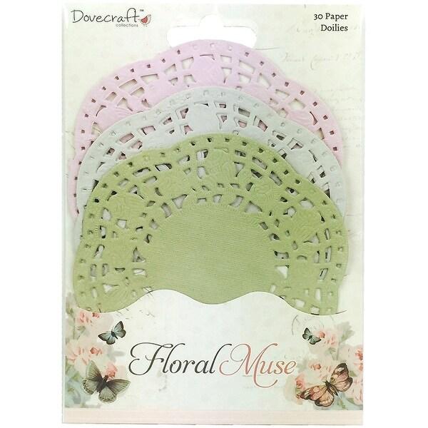 Dovecraft Floral Muse Paper Lace Doilies-3 Colors/10 Each