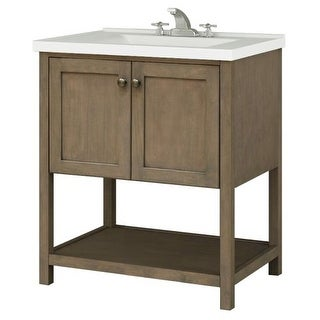 "Sunny Wood AN3021 Aiden 30"" Hardwood Vanity Cabinet Only"
