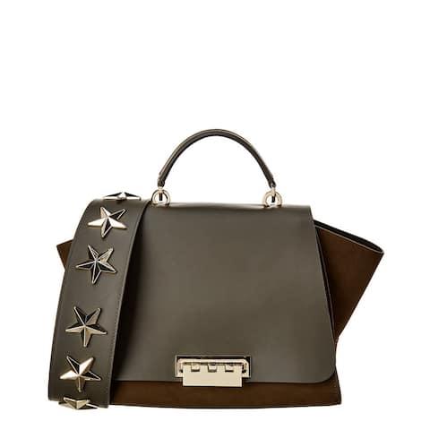Zac Posen Eartha Iconic Soft Top Handle Leather & Suede Satchel