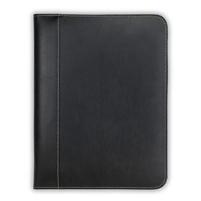 Samsill Contrast Stitch Leather Padfolio – Lightweight & Stylish Business Portfolio For Men & Women – Resume Portfolio W
