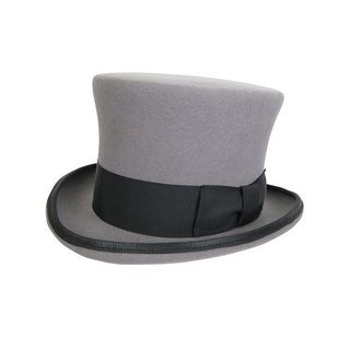 Cambridge Top Hat in Heather Grey with Black Band