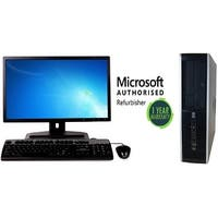 "HP 6200 SFF, intel i3 3.1GHz, 4GB, 250GB, W10 Home, 19"" LCD"