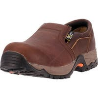 McRae Industrial Work Shoes Men CT Xrd Twin Gore Slip Brown