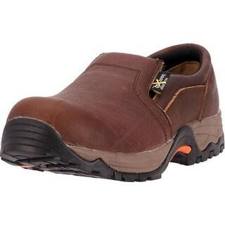 McRae Industrial Work Shoes Men CT Xrd Twin Gore Slip Brown
