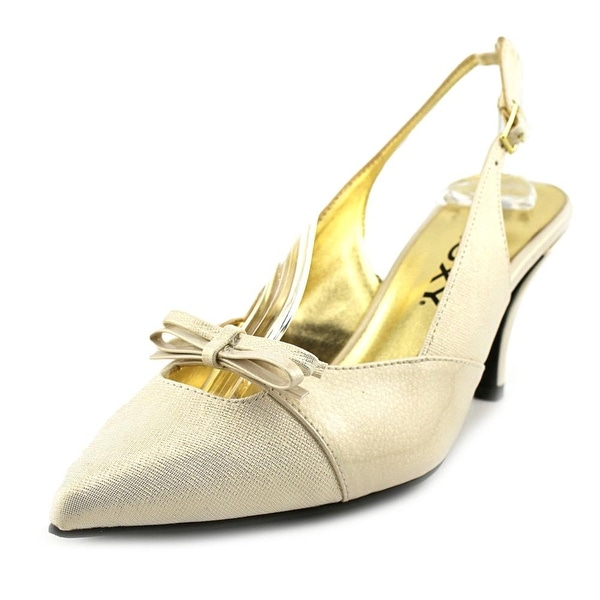 Proxy Carey Women Pointed Toe Canvas Slingback Heel