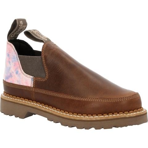 #GB00461, Georgia Boot Women's Brown and Cotton Candy Romeo Shoe