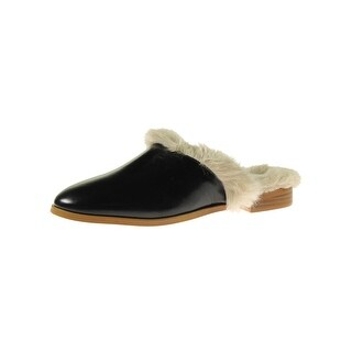 Steve Madden Womens Finch Mules Leather Faux Fur