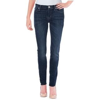 Hudson Womens Shine Skinny Jeans Skinny Mid-Rise