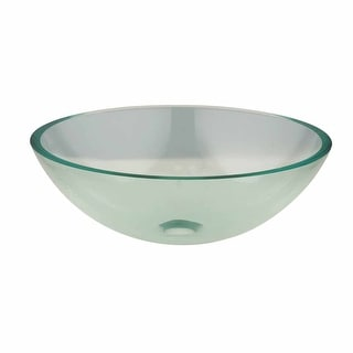Havasu Clear Tempered Glass Vessel Sink DRAIN INCLUDED Renovator's Supply