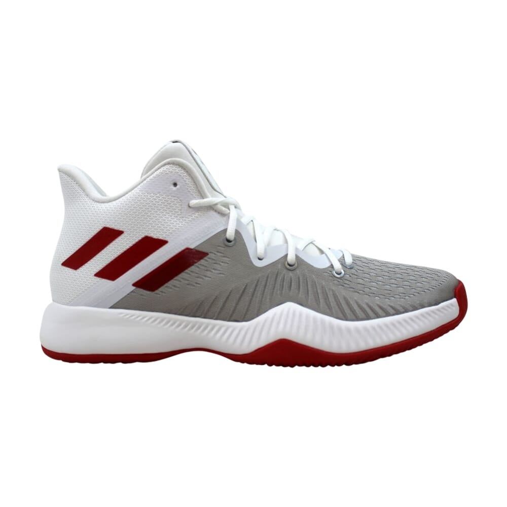 Adidas Men's SM Mad Bounce NBANCAA WH Footwear WhiteScarlet Grey Two AC7238 Size 13.5
