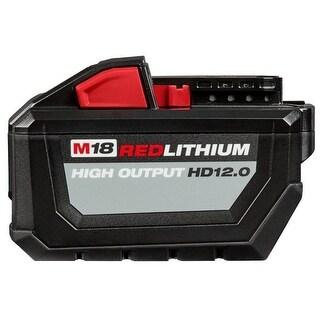 Milwaukee M18 REDLITHIUM High Output 12Ah Battery Pack - Black