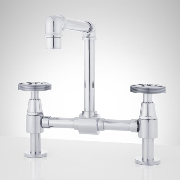 shop signature hardware 929279 edison 1 2 gpm bridge bathroom faucet rh overstock com