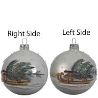 Tree on Sled Glass Ball
