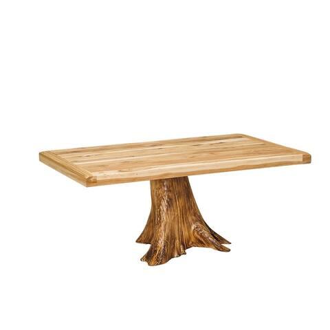 Hickory Settler's Stump-Base Table