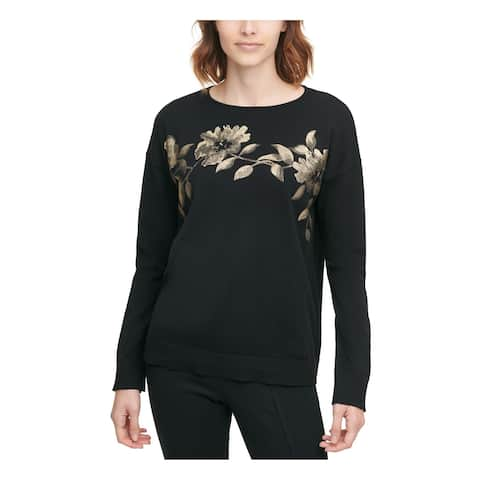 CALVIN KLEIN Black Long Sleeve Sweater XS