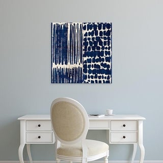 Easy Art Prints 's 'Indigo Batik III' Premium Canvas Art