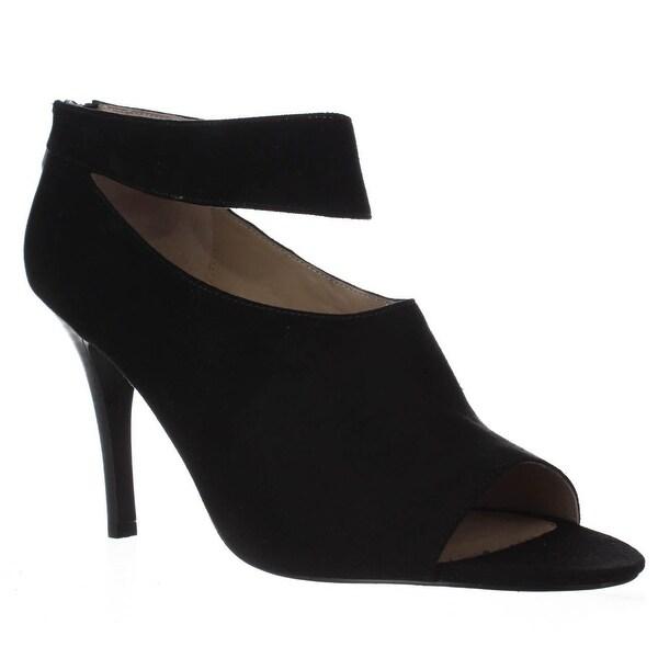 Adrienne Vittadini Gratian Ankle Strap Pumps, Black - 11 us