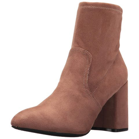 Qupid Womens mariko Fabric Pointed Toe Ankle Fashion Boots