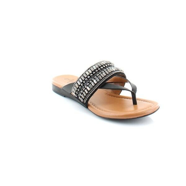 Arturo Chiang Womens Lyra Leather Split Toe Casual Slide Sandals
