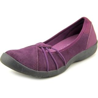 Easy Spirit Kaali Women Round Toe Suede Purple Walking Shoe