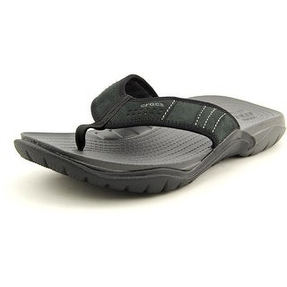 Crocs Swiftwater Flip Men  Open Toe Suede  Flip Flop Sandal