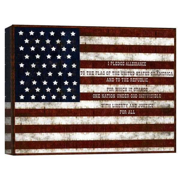 """PTM Images 9-124797 PTM Canvas Collection 8"""" x 10"""" - """"I Pledge To America"""" Giclee Liberty Art Print on Canvas"""