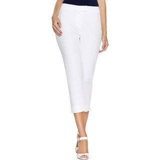 Finity Womens Cropped Pants Poplin Flat Front (3 options available)