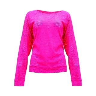 Cowgirl Tuff Western Shirt Womens Long Sleeve Lace Tee Hot Pink 100108