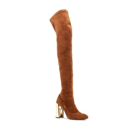 BCBGMAXAZRIA Womens bea Almond Toe Over Knee Cold Weather Boots
