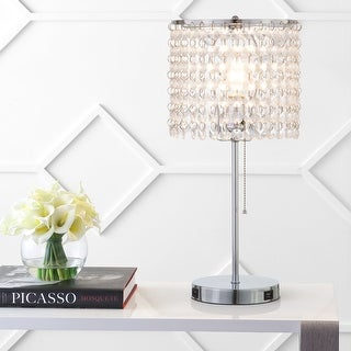Link to Q-Max Modern Sparkling Acrylic Crystal Beads Table Light With USB Ports Similar Items in Table Lamps
