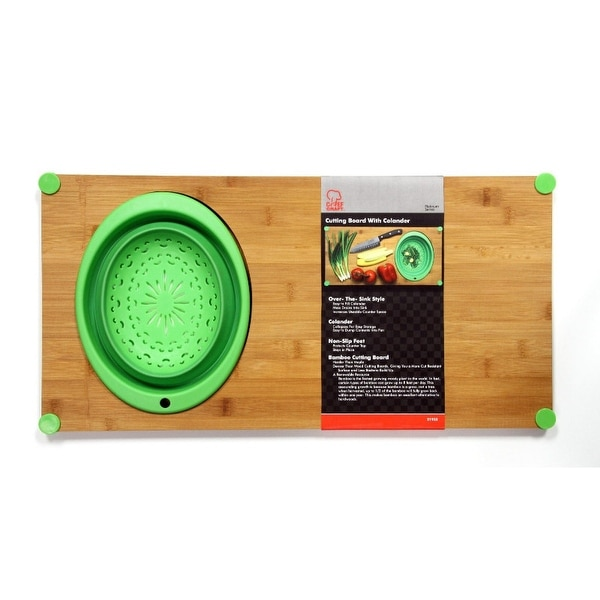 Shop Over The Sink Bamboo Cutting Board With Collapsible