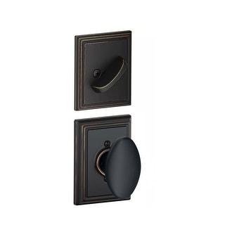 Schlage F59-SIE-ADD  Siena Single Cylinder Interior Pack with Decorative Addison Trim - Exterior Handleset Sold Separately