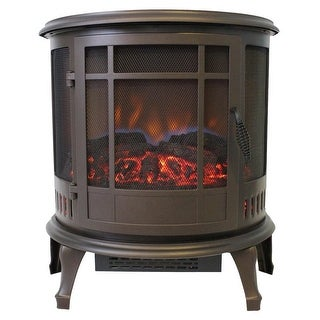 World Marketing Es4835 Comfort Glow Claremont Bronze Electric Stove W/ 180 Degree Viewing