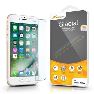 rooCASE iPhone 7 Plus Tempered Glass Screen Protector Guard for Apple iPhone 7 Plus, Scratch Resistant, Easy Installation