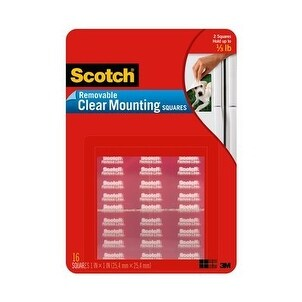 3M 859 Scotch Clear Removable Mounting Squares Mount Sqr Remv Clr